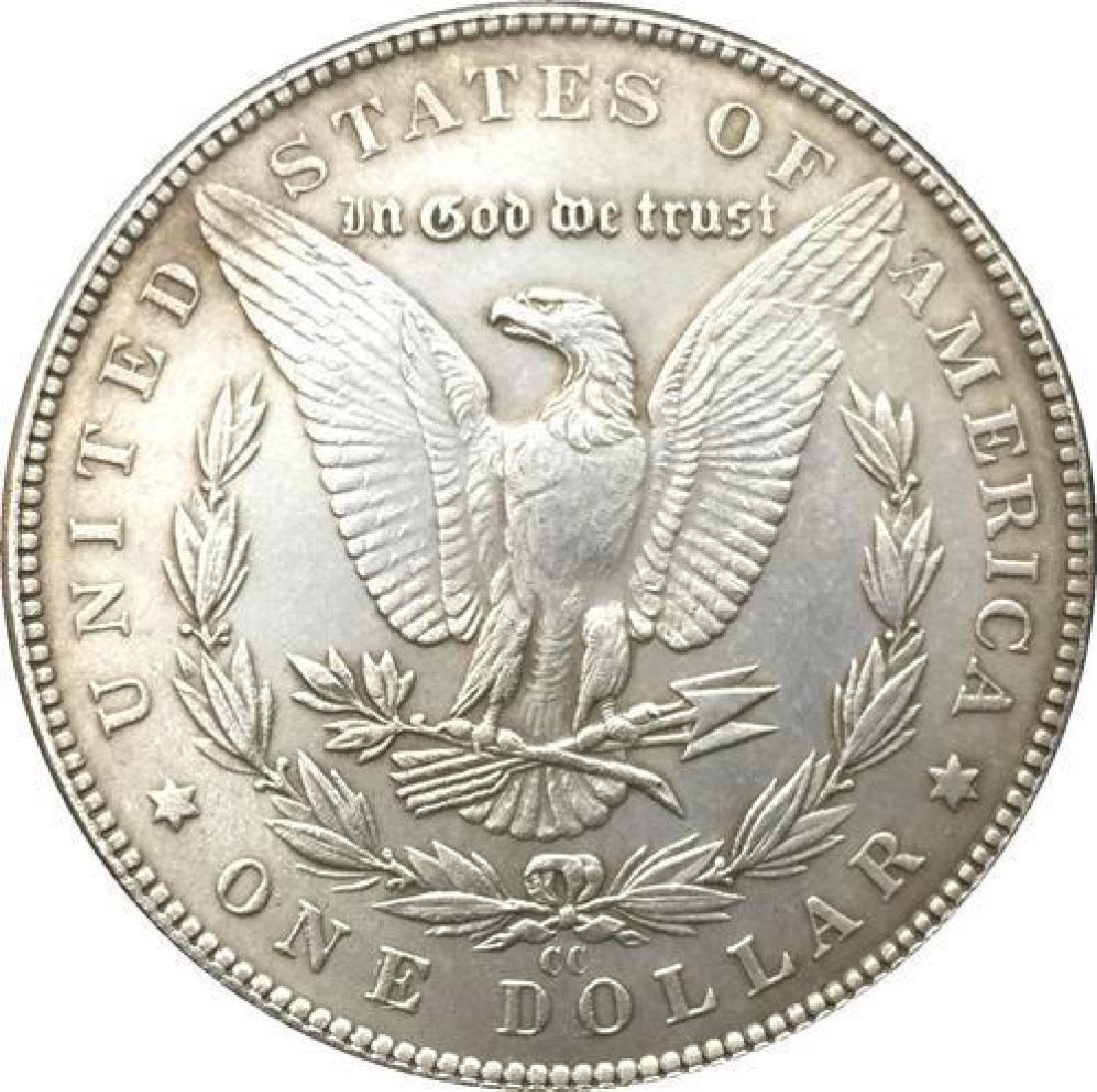 1881 USA Hooded Skeleton Coin - 2