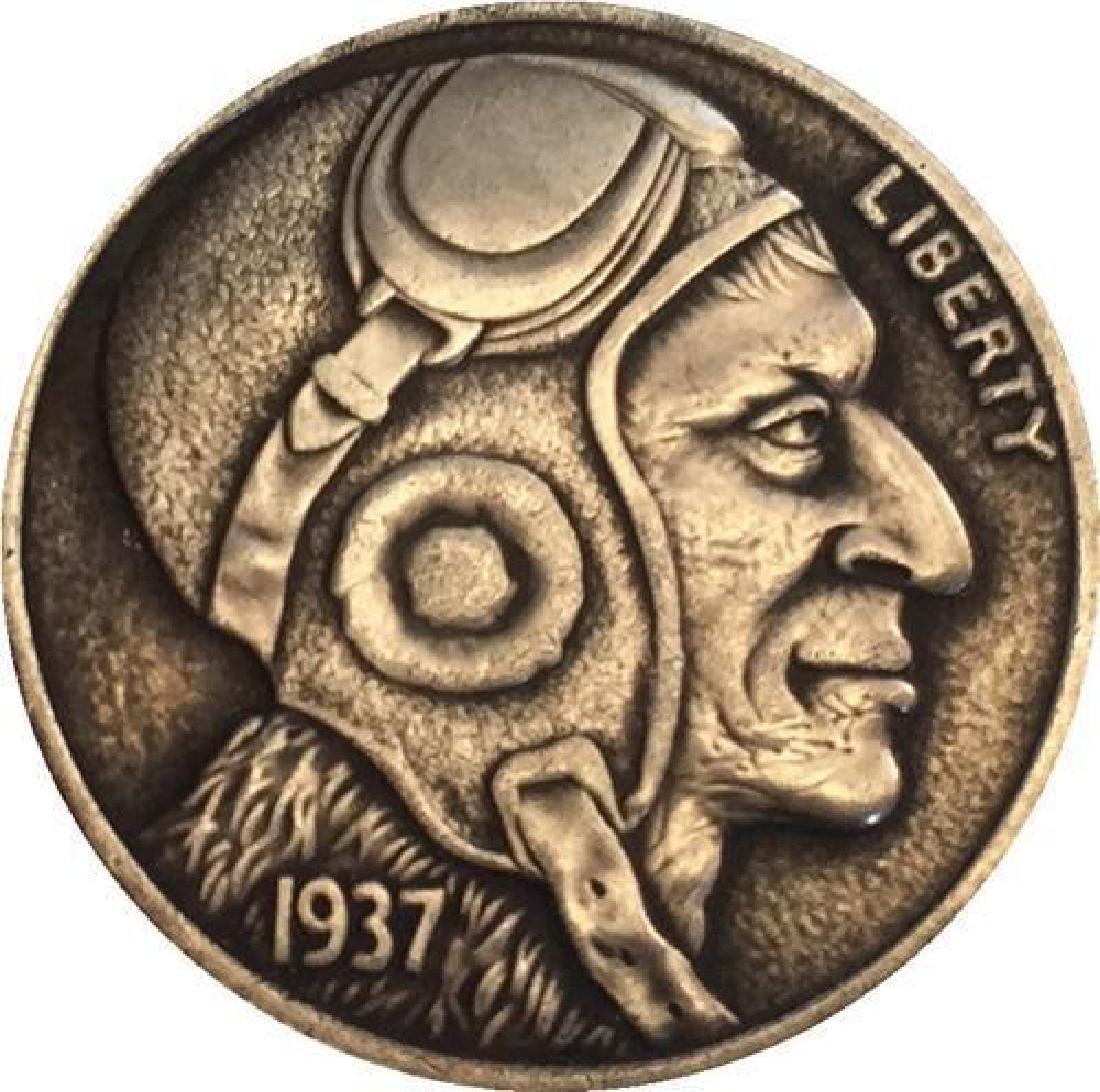 1937 USA The Pilot Buffalo Coin