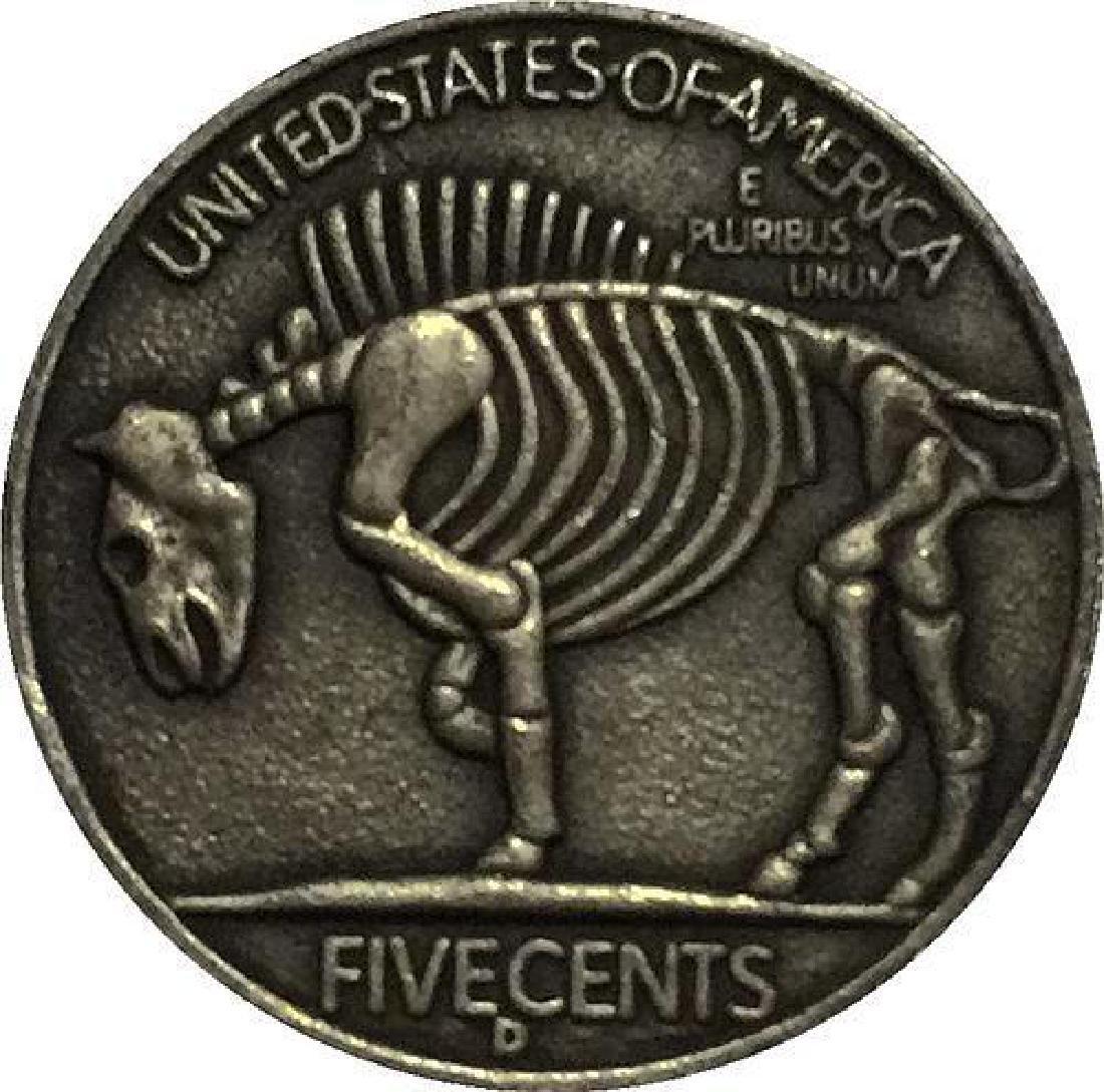 1937 USA Topless Woman Buffalo Coin - 2