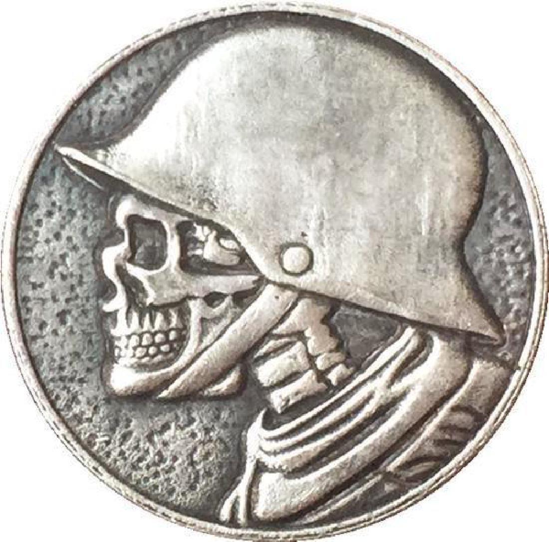 USA Skeleton with Helmet Buffalo Coin