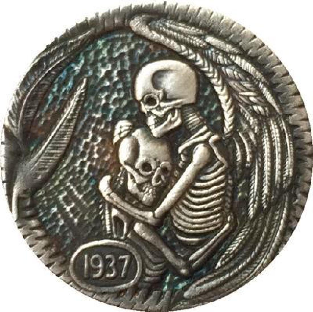 1937 USA Hugging Skeletons Buffalo Coin
