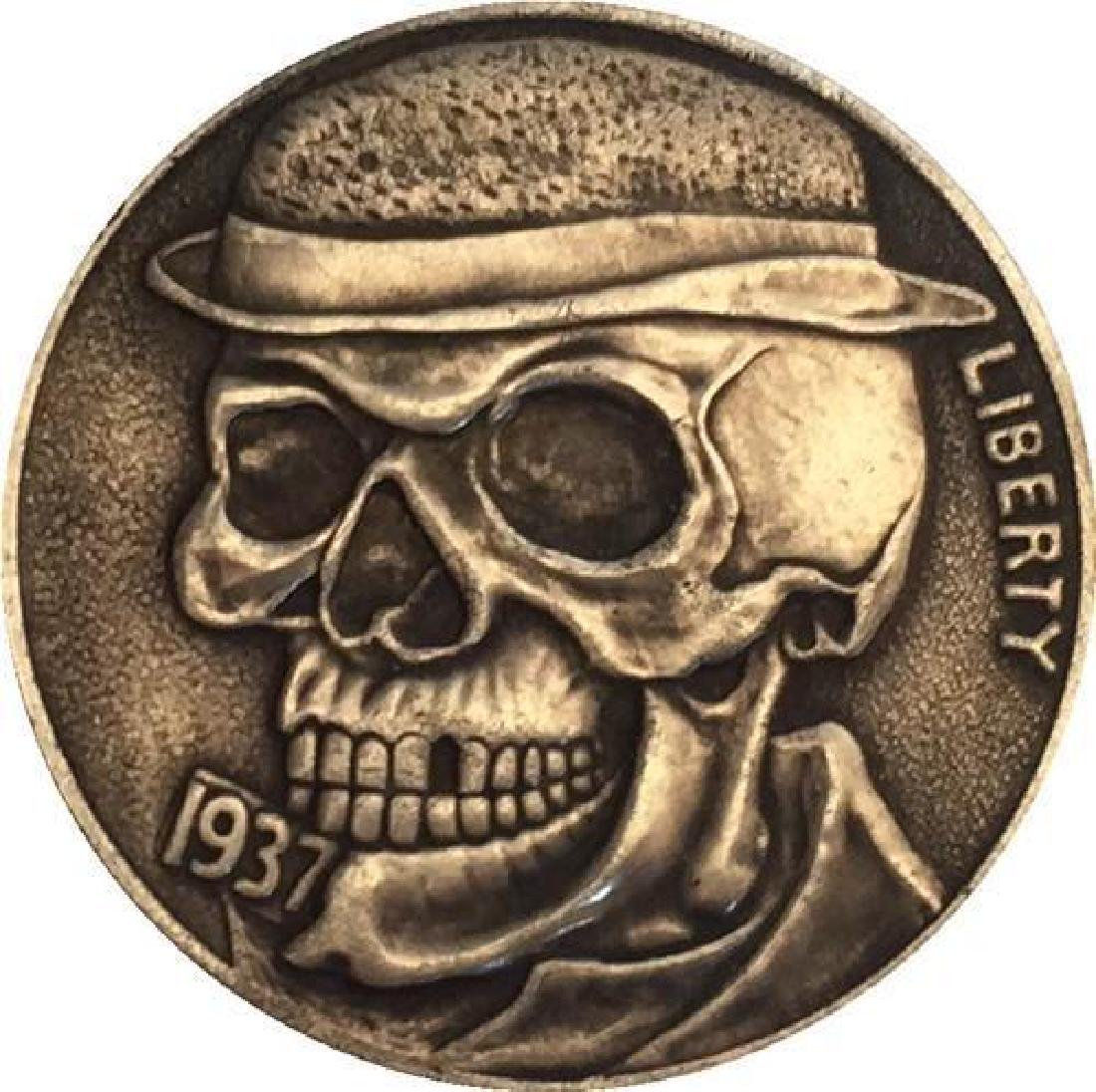 1937 USA Missing Tooth Skeleton Buffalo Coin