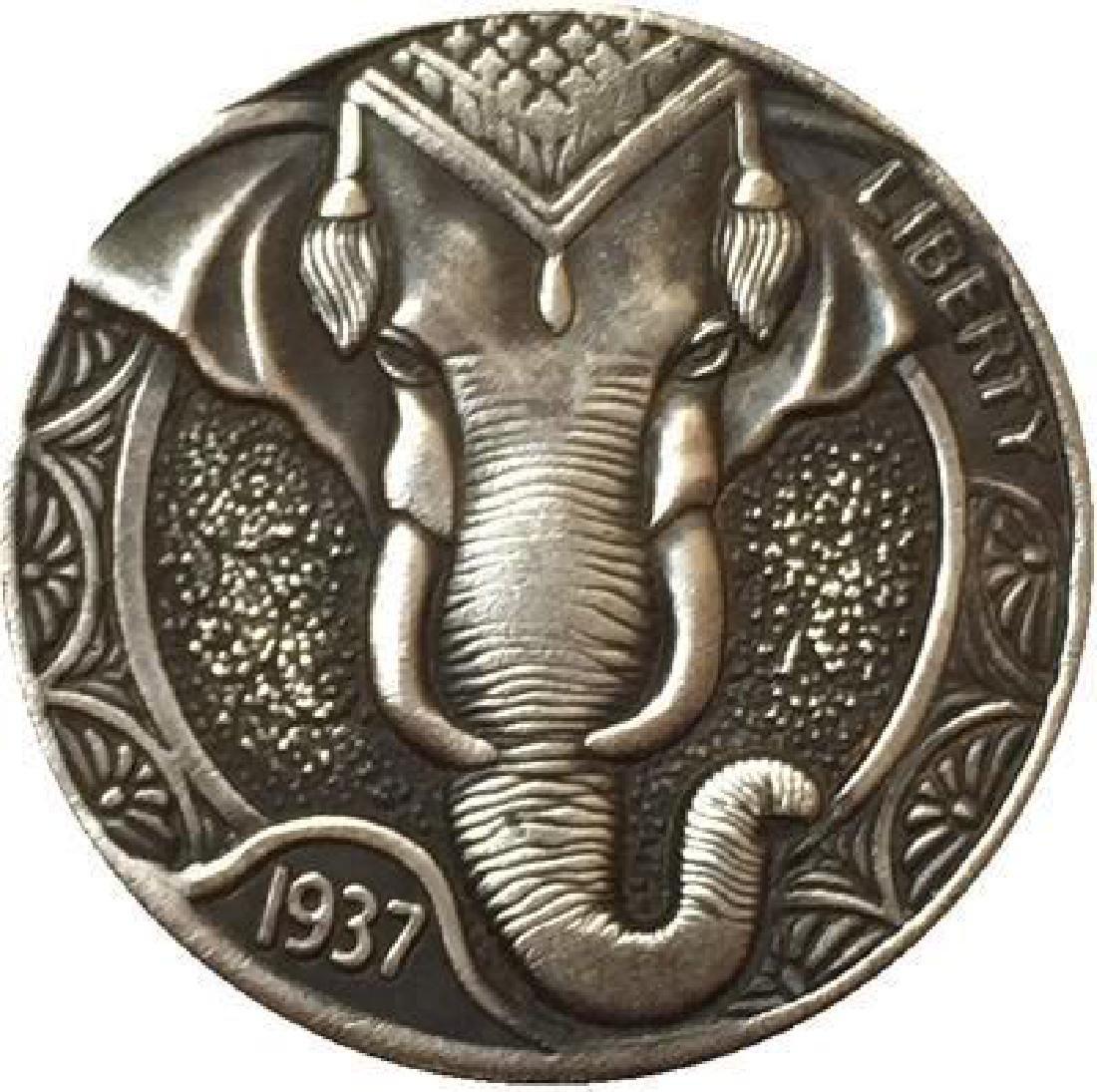 1937 USA Circus Elephant Buffalo Coin