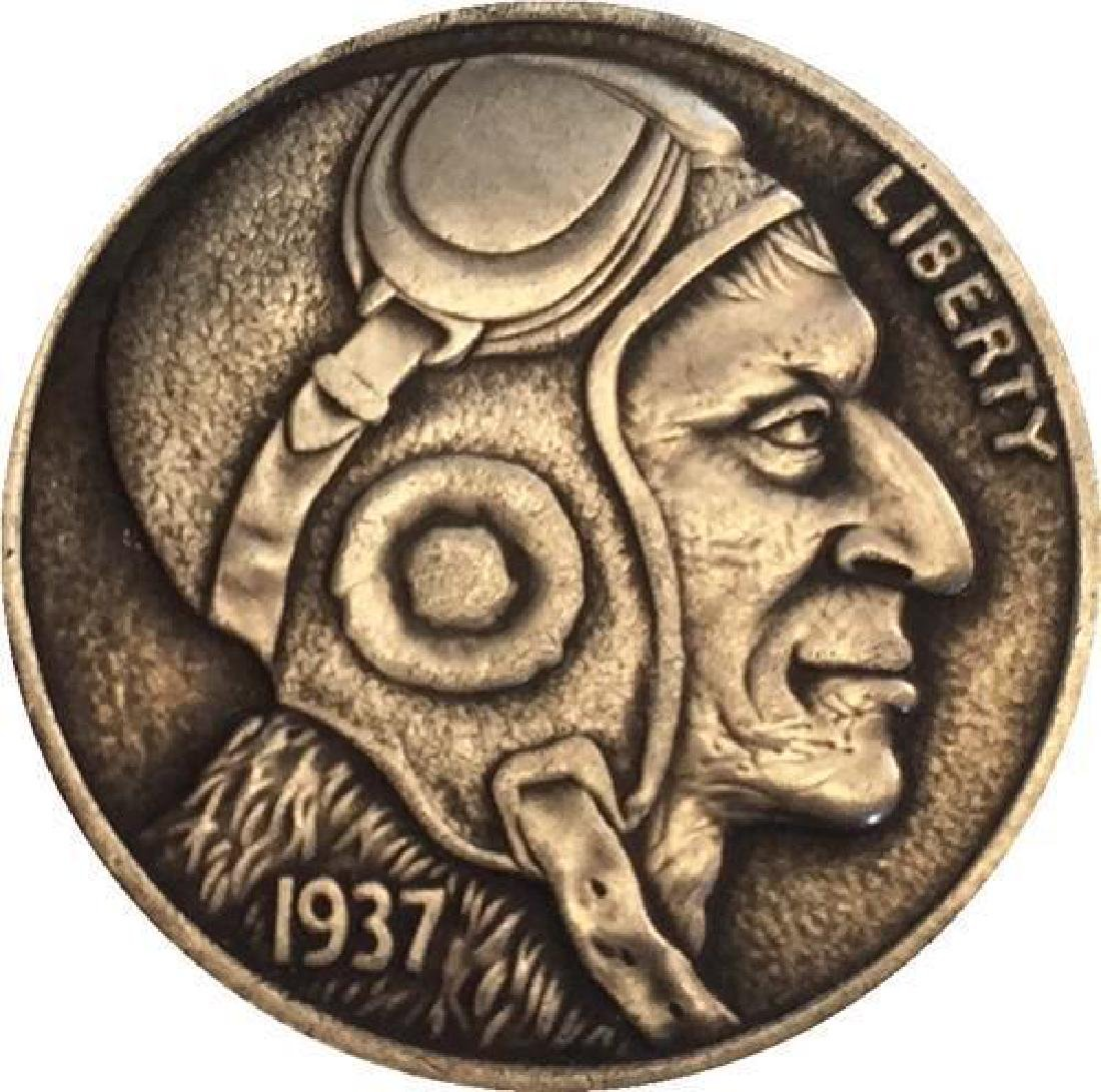 1937 USA The Pilot Buffalo Coin