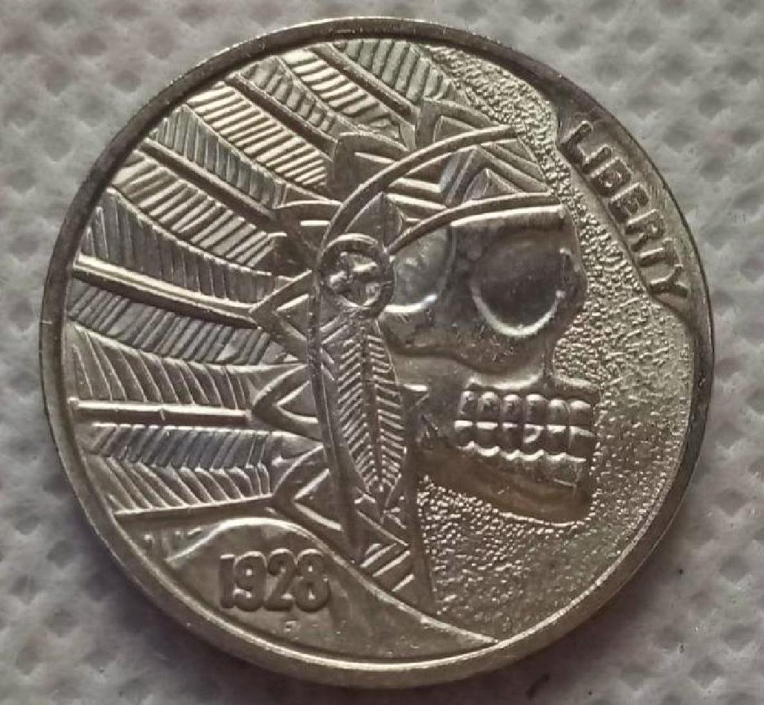 1928 USA Indian Skull Buffalo Coin