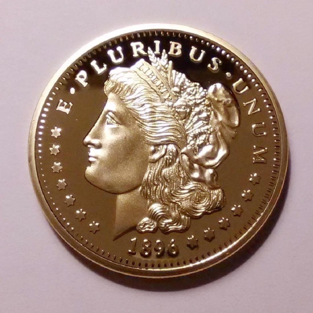 1896 .999 Fine Gold Clad Morgan Coin - 2