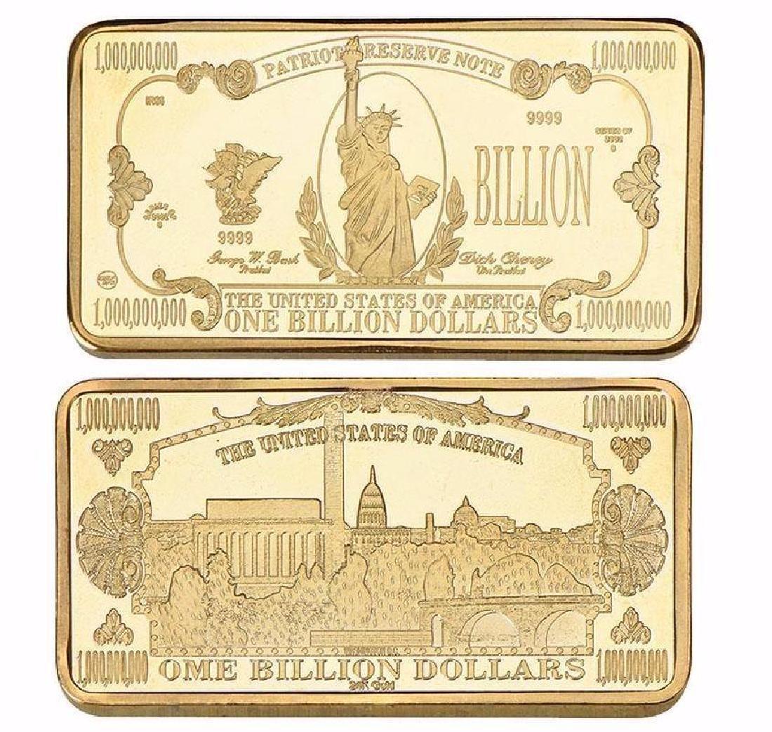USA $1,000,000,000 24K Gold Clad Bullion Bar