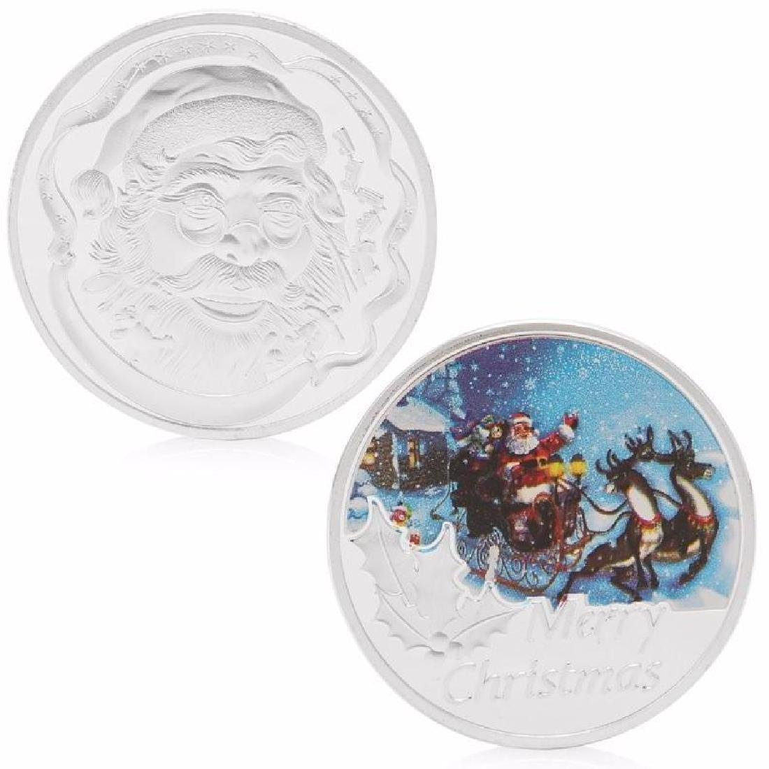 Santa Claus Christmas Colored Silver Clad Coin