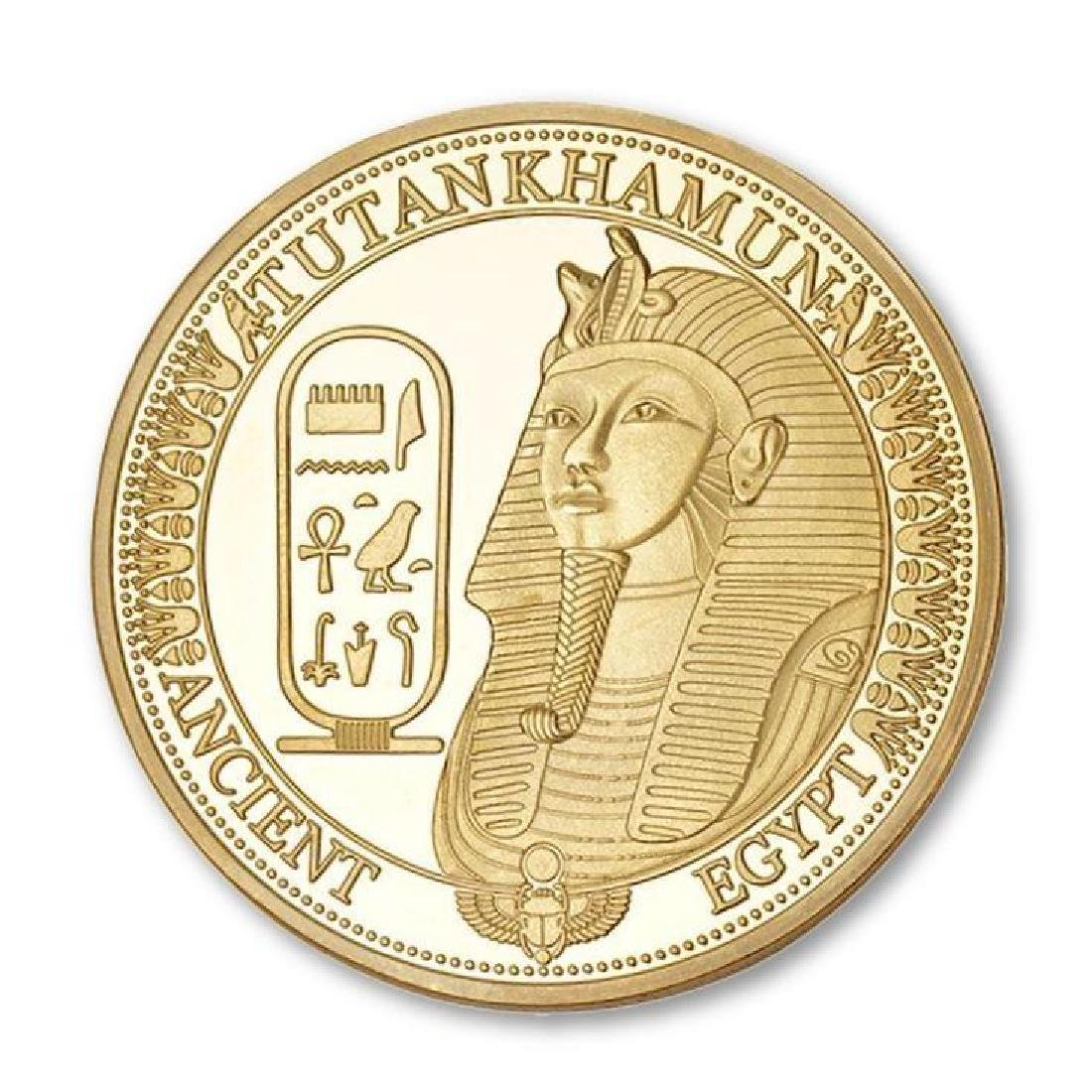 Ancient Egypt Tutankhamun Gold Clad Coin