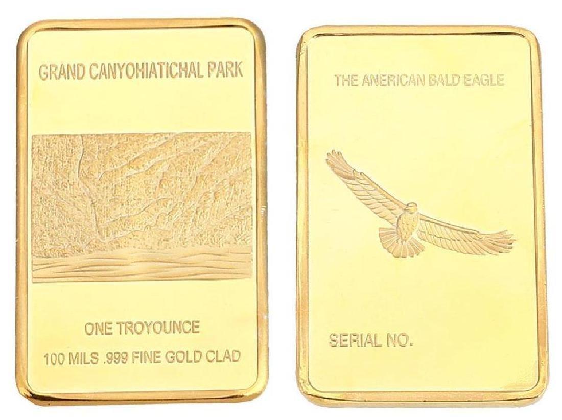 Grand Canyon .999 Fine Gold Clad Bullion Bar