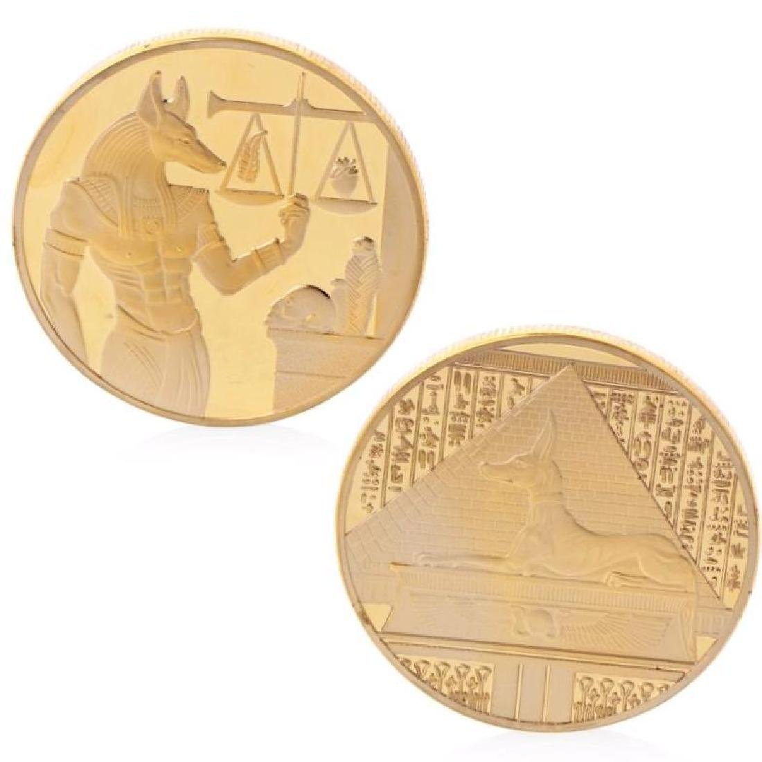 Ancient Egypt Anubis Gold Clad Coin