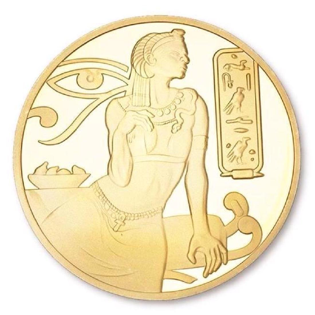 Ancient Egypt Cleopatra Gold Clad Coin