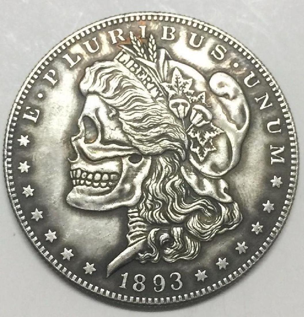 1893 Skeleton Woman Morgan Coin