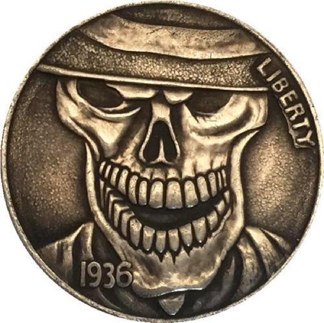 1936 USA Evil Skeleton Buffalo Coin