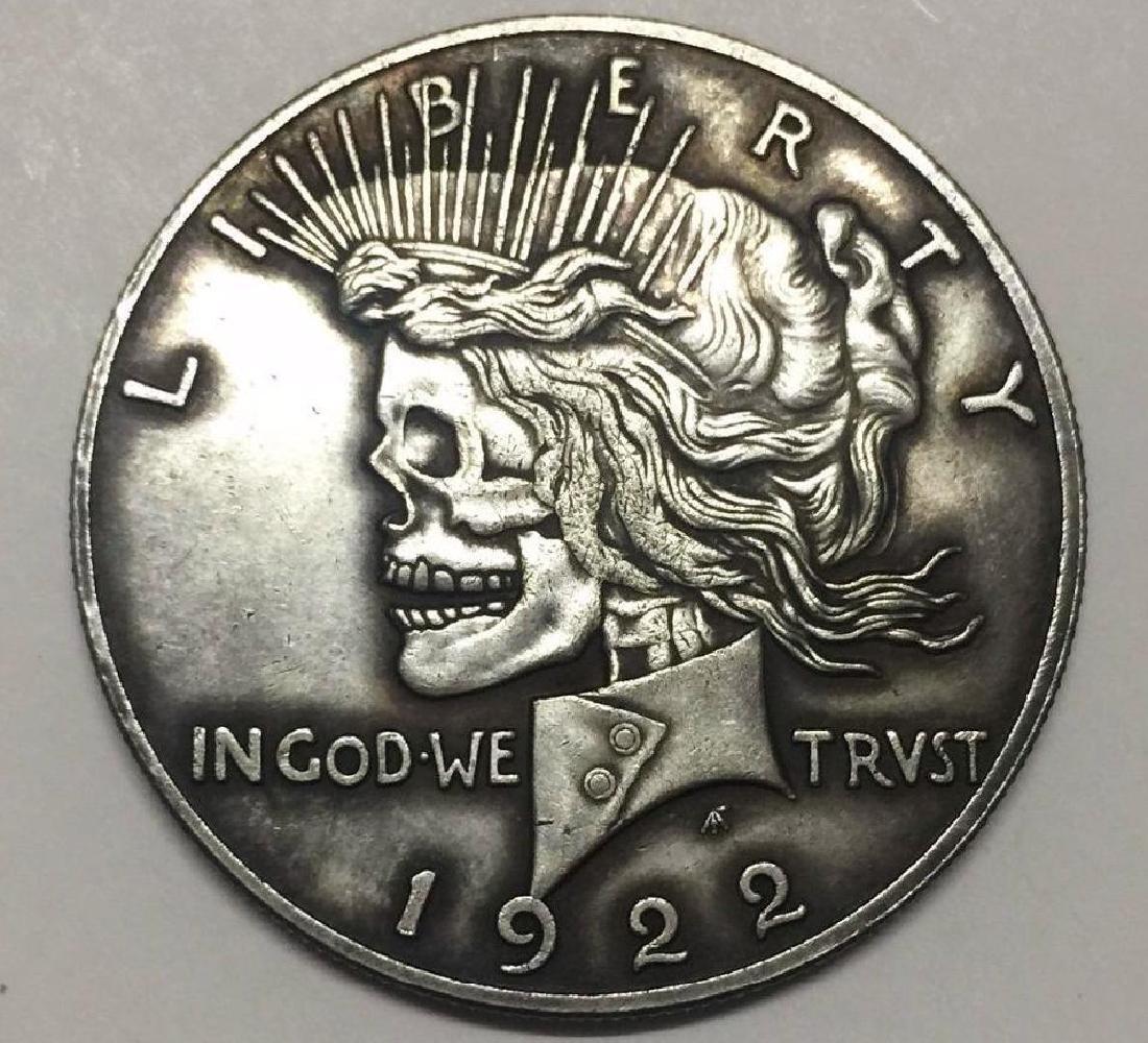1922 USA Liberty Woman Skeleton Coin