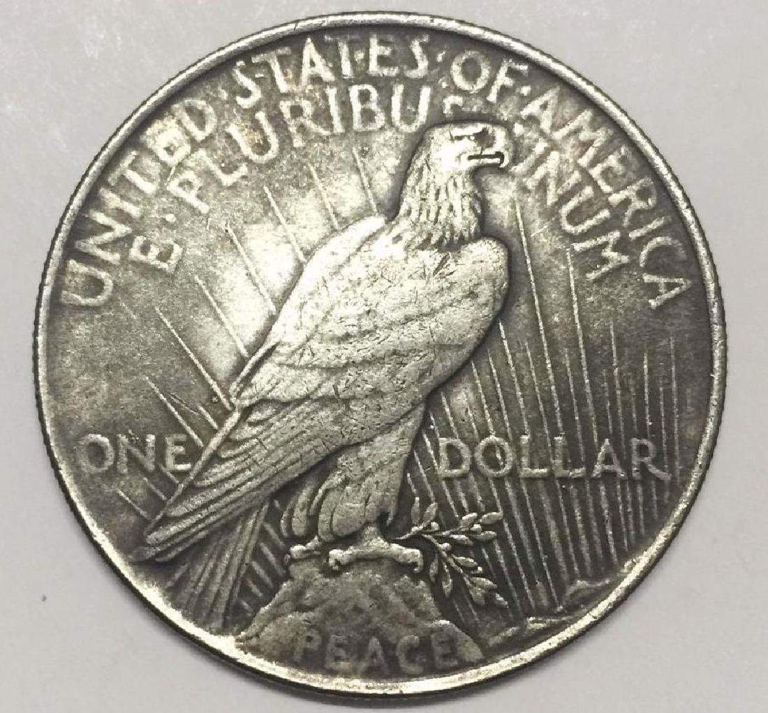 1922 USA Liberty Woman Skeleton Coin - 2