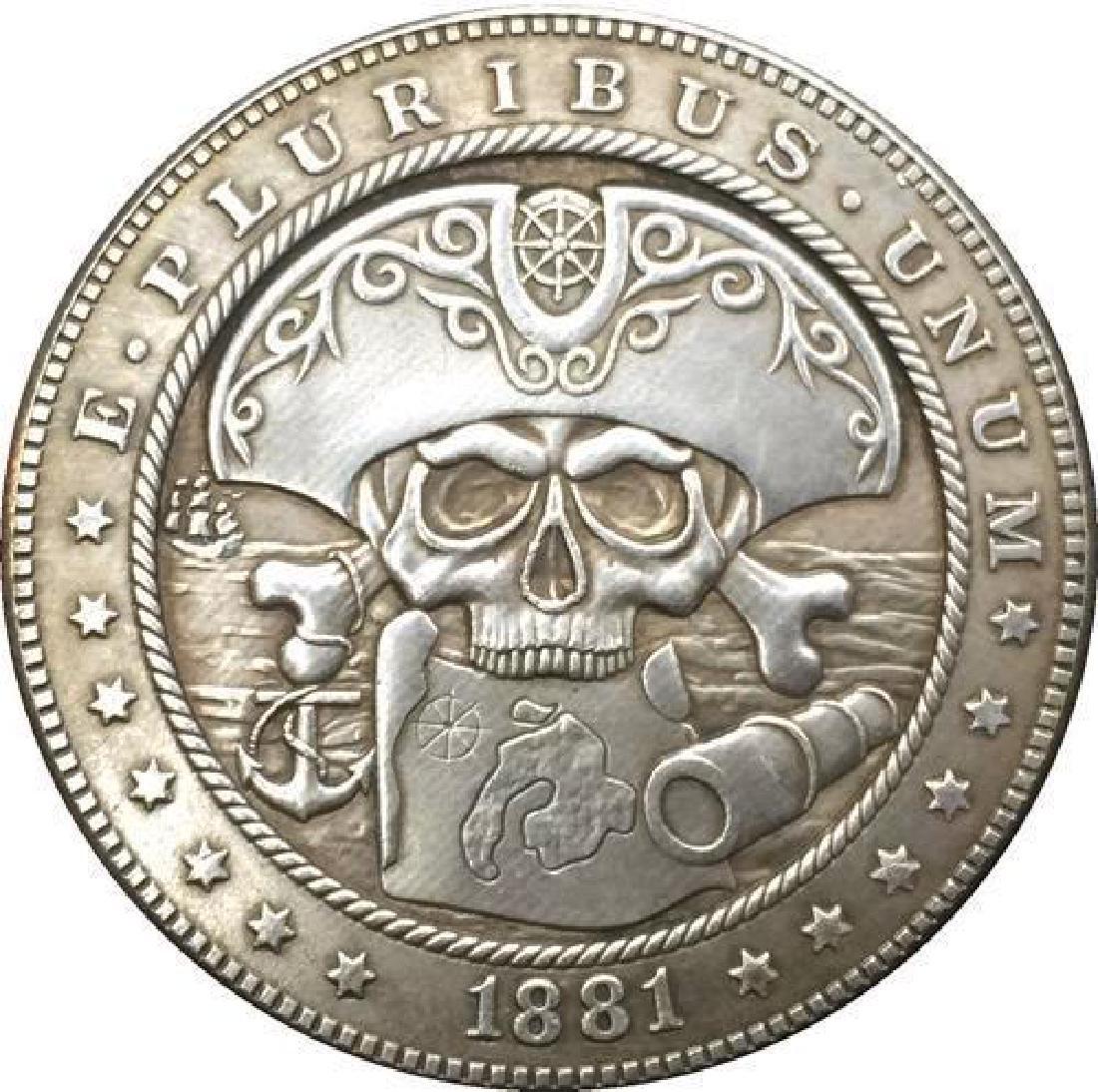 1881 USA Captain Pirate Skull Coin