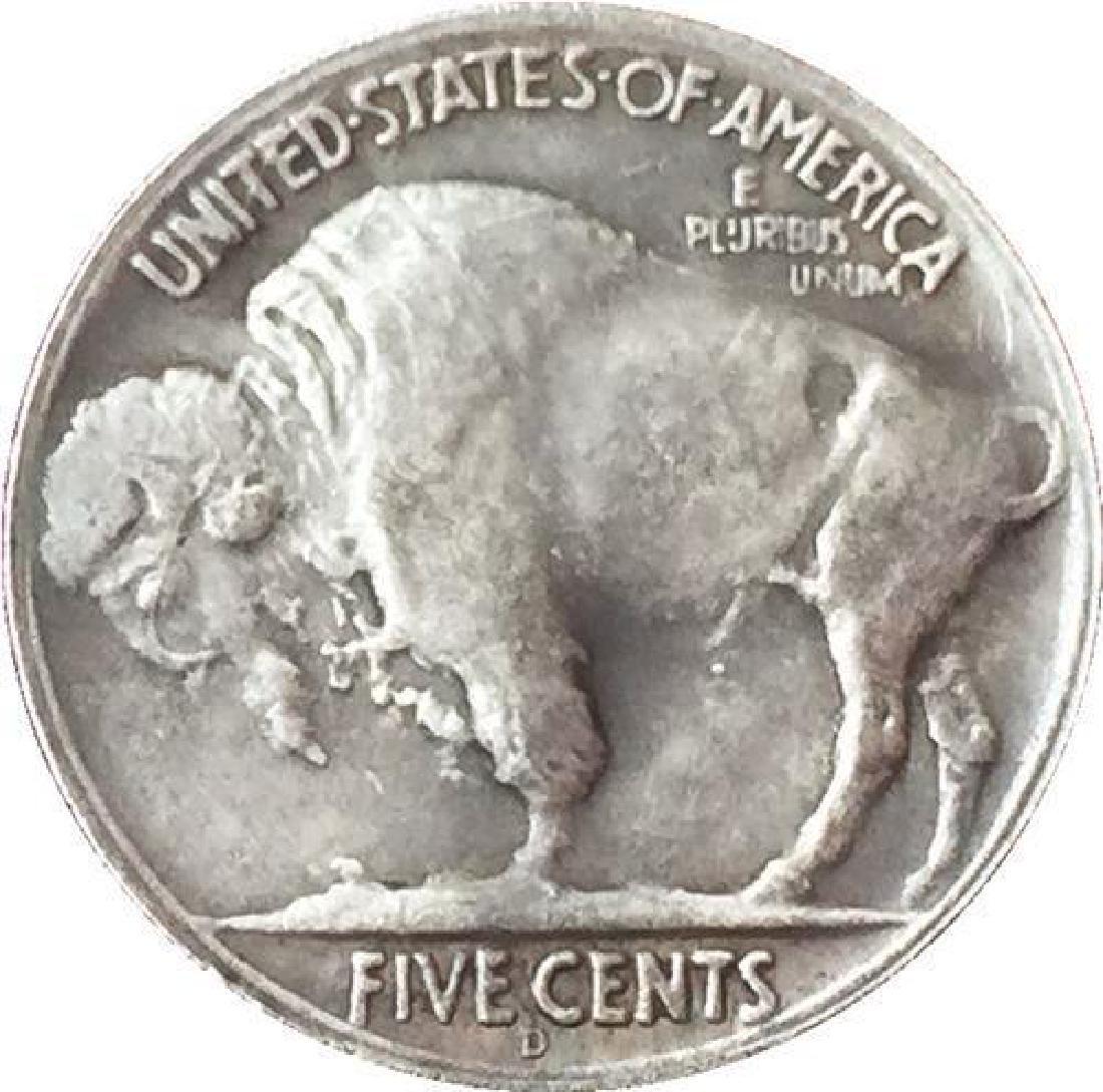 1937 USA Praying Skeleton Buffalo Coin - 2