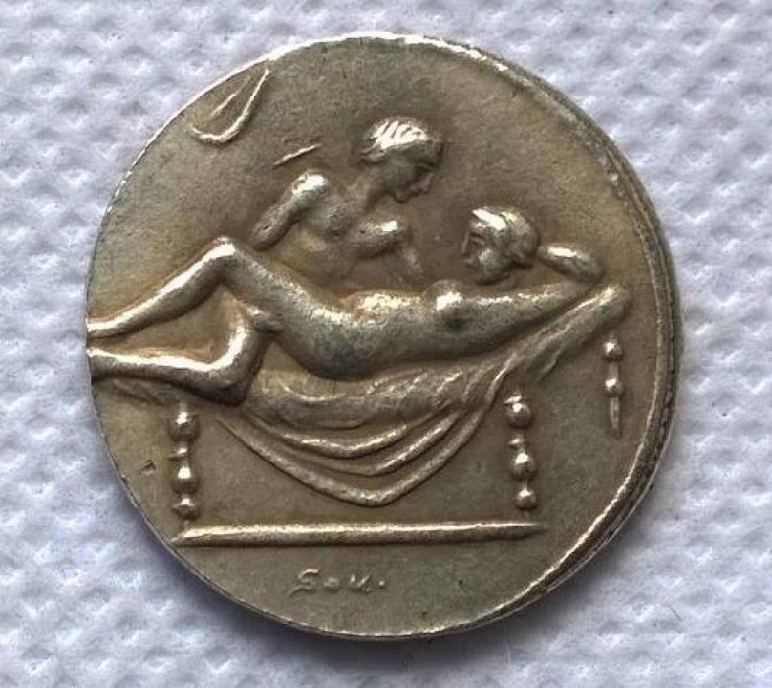 Roman Erotic Position #1 Token Coin