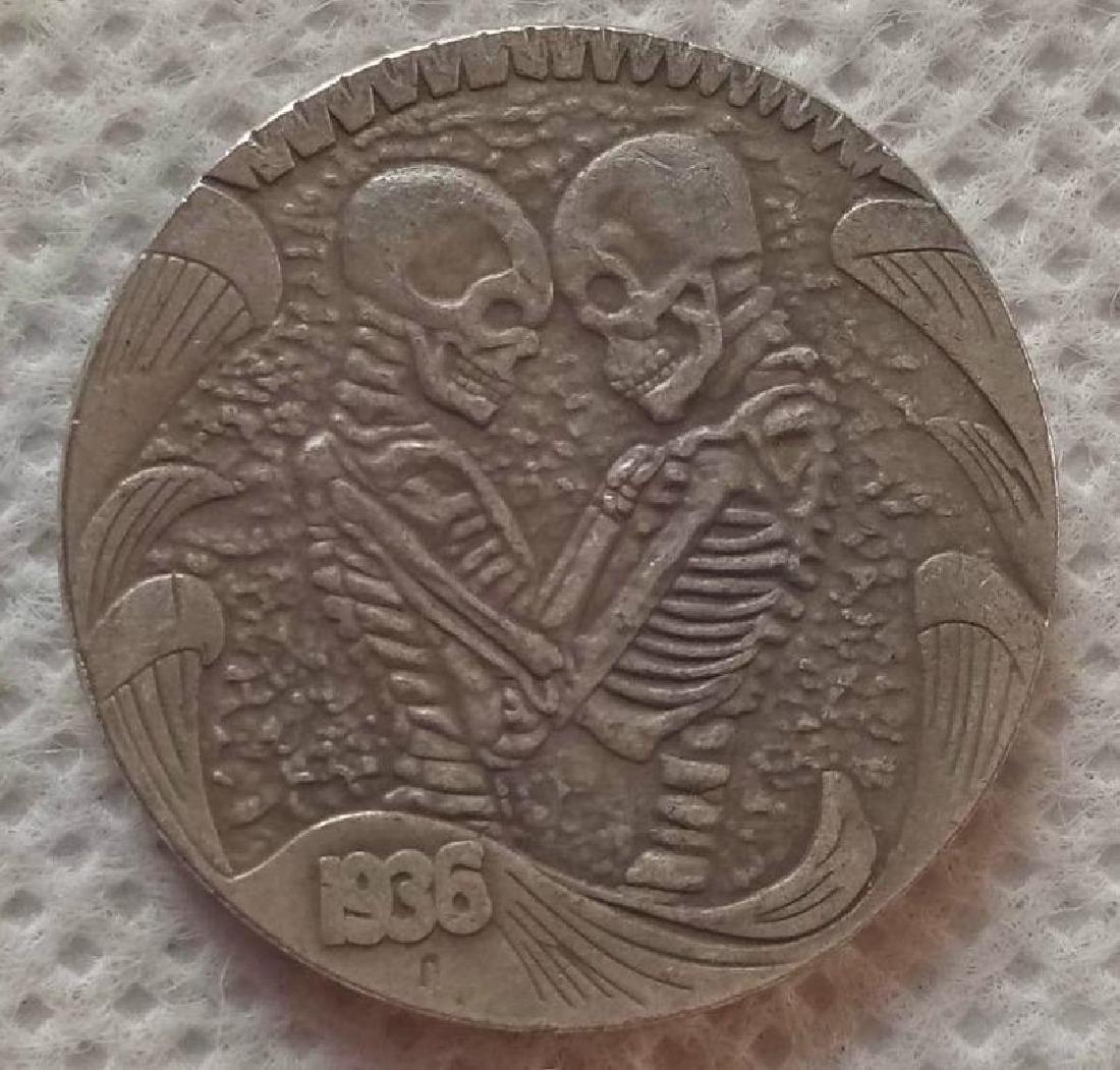 1936 USA Skeleton Lovers Buffalo Coin