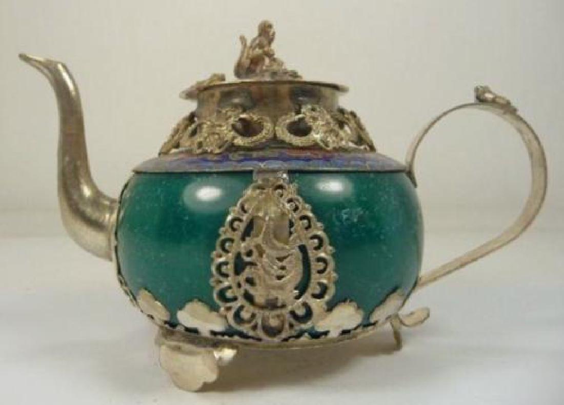 Chinese Animal Designs Jade Teapot