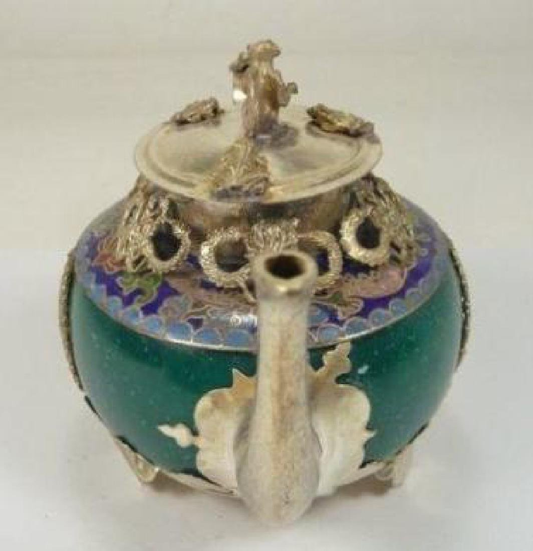 Chinese Animal Designs Jade Teapot - 2