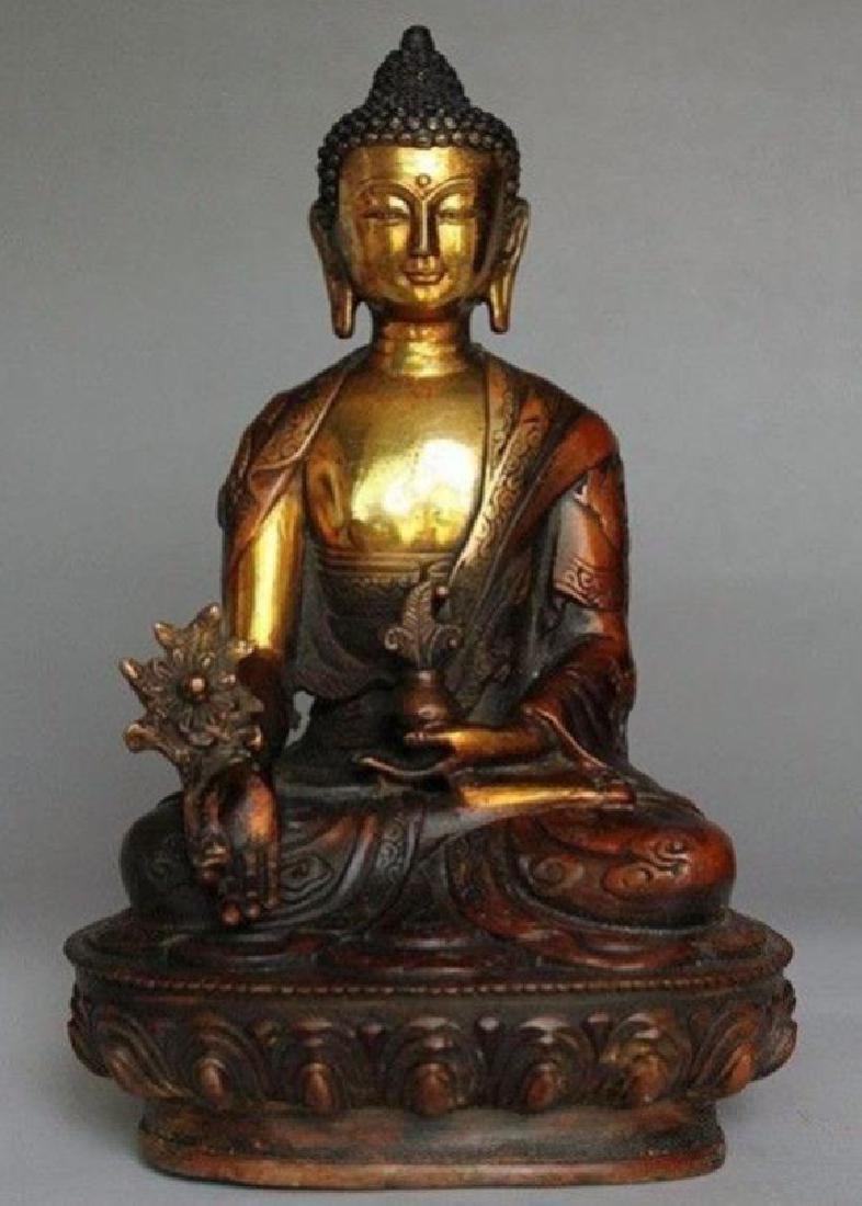 Tibetan Buddhism Shakyamuni Brass Statue