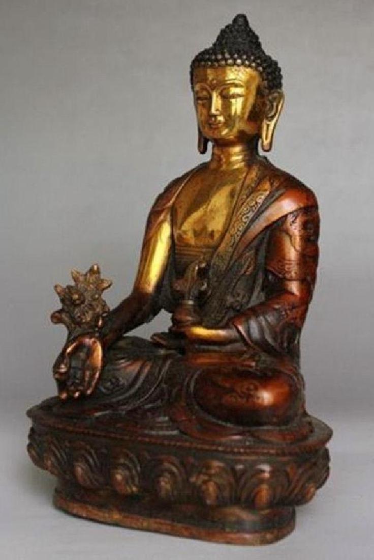 Tibetan Buddhism Shakyamuni Brass Statue - 2