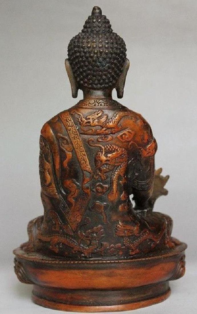 Tibetan Buddhism Shakyamuni Brass Statue - 3