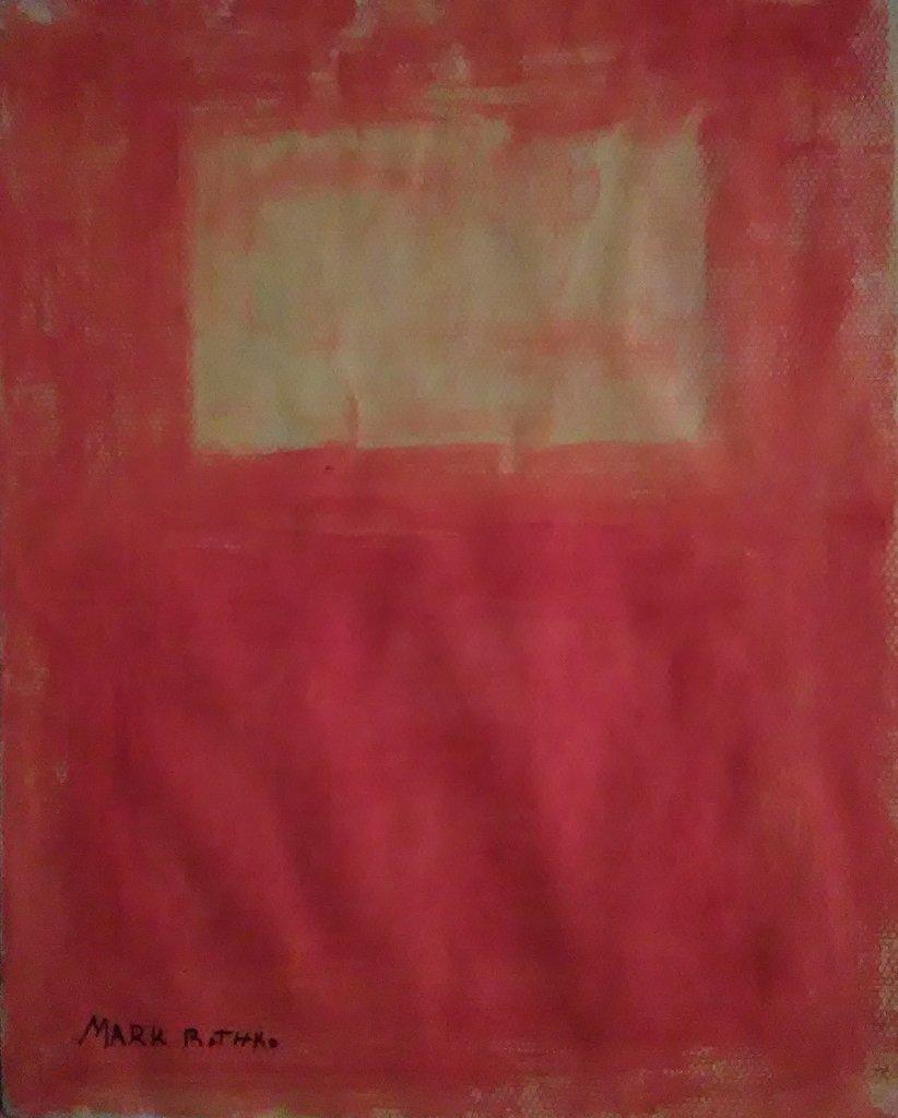 Gouache On Paper Signed Mark Rothko