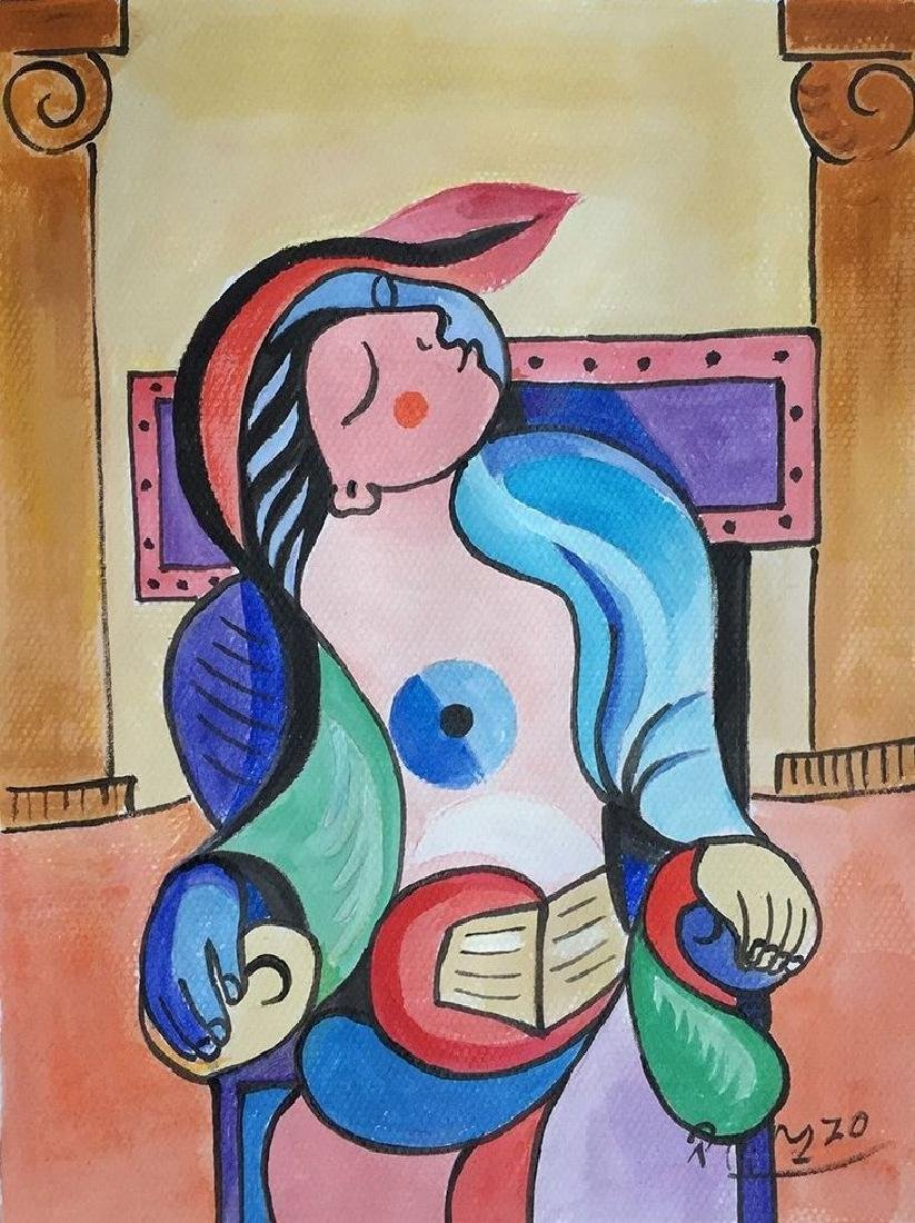 Gouache On Paper Signed Picasso
