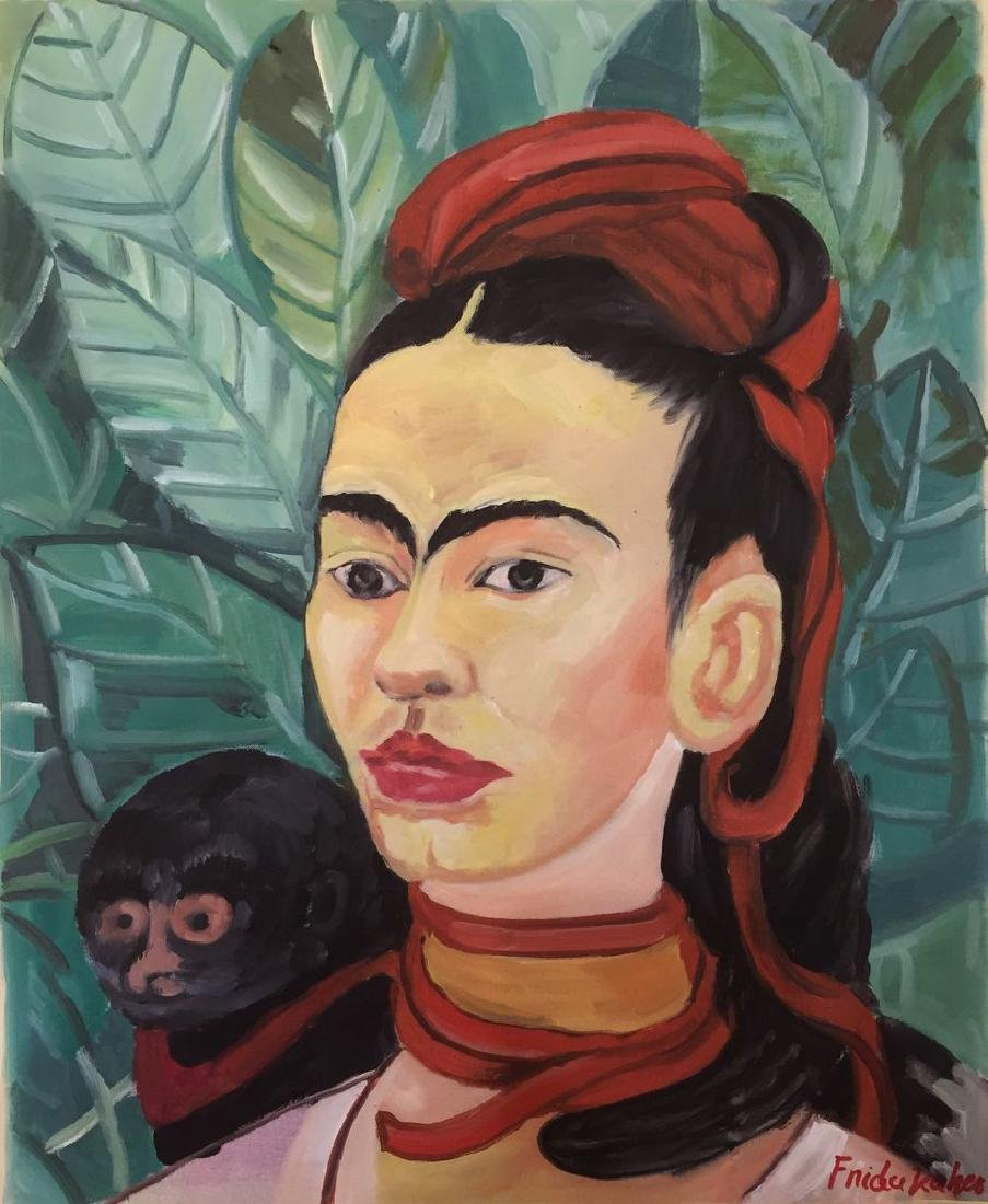 Oil On Paper Signed Frida Kahlo