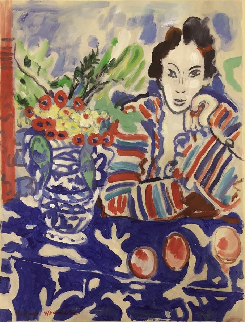 Watercolor On Paper Signed Henri Matisse