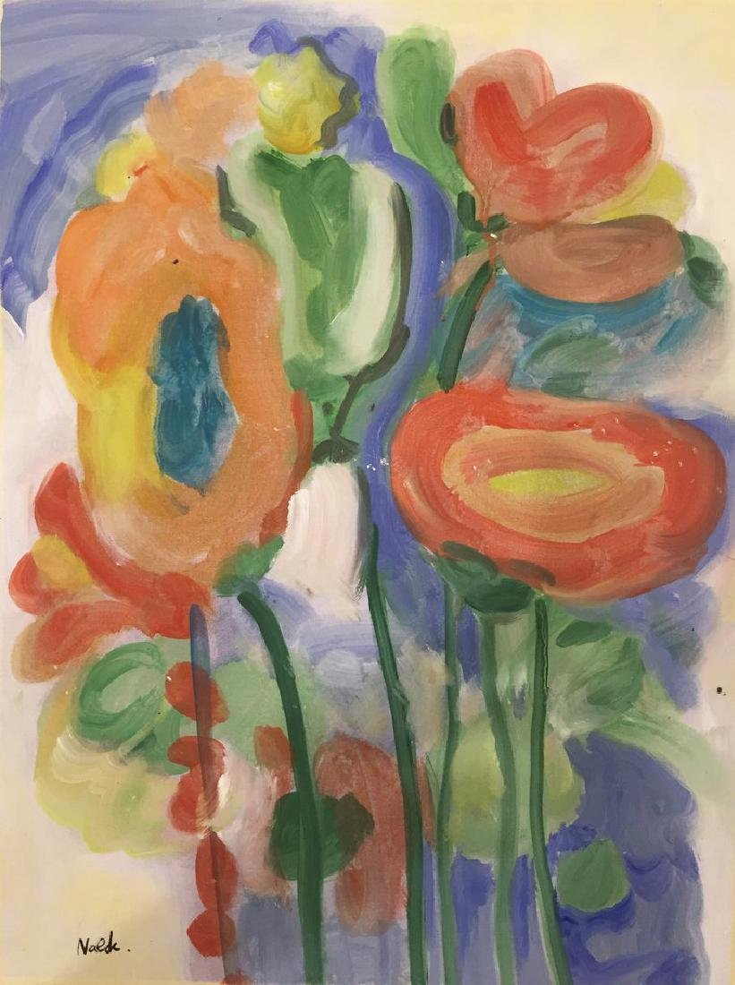 Watercolor On Paper Signed Nolde