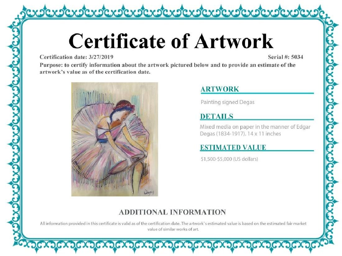 Mixed Media On Paper Signed Degas - 2