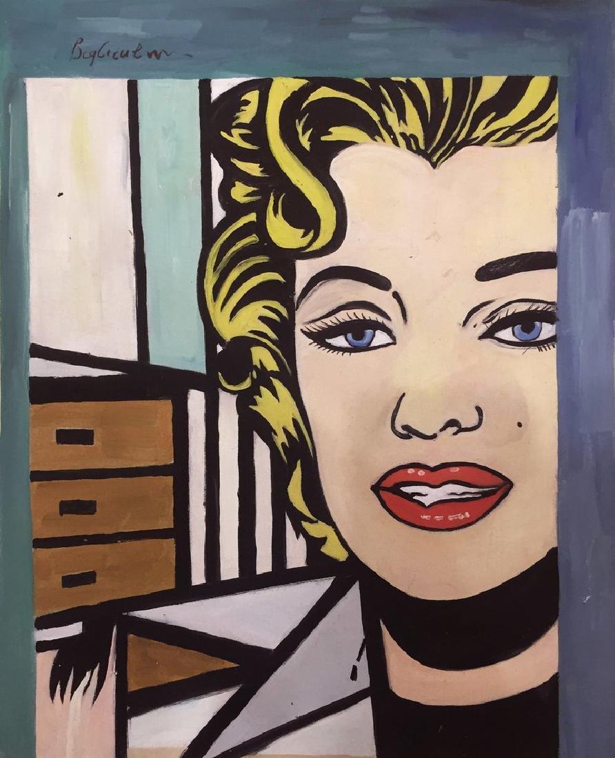 Gouache On Paper Signed Lichtenstein