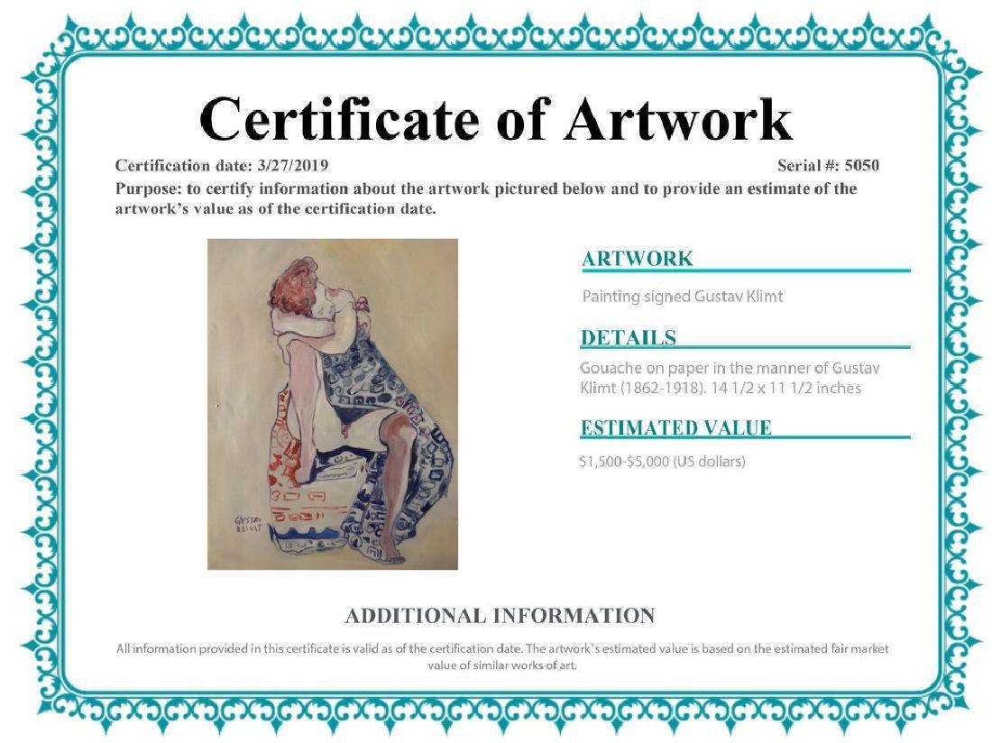 Gouache On Paper Signed Gustav Klimt - 2