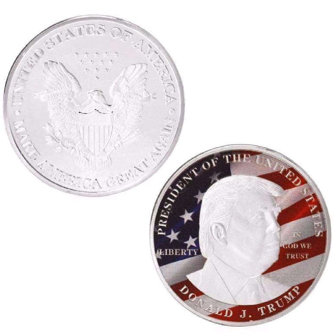 Donald Trump President Colored Silver Clad Coin