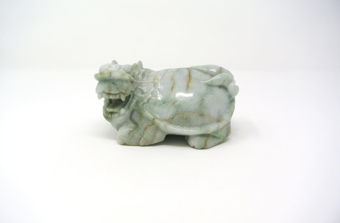 Chinese Jade Fo Lion Figure Statue
