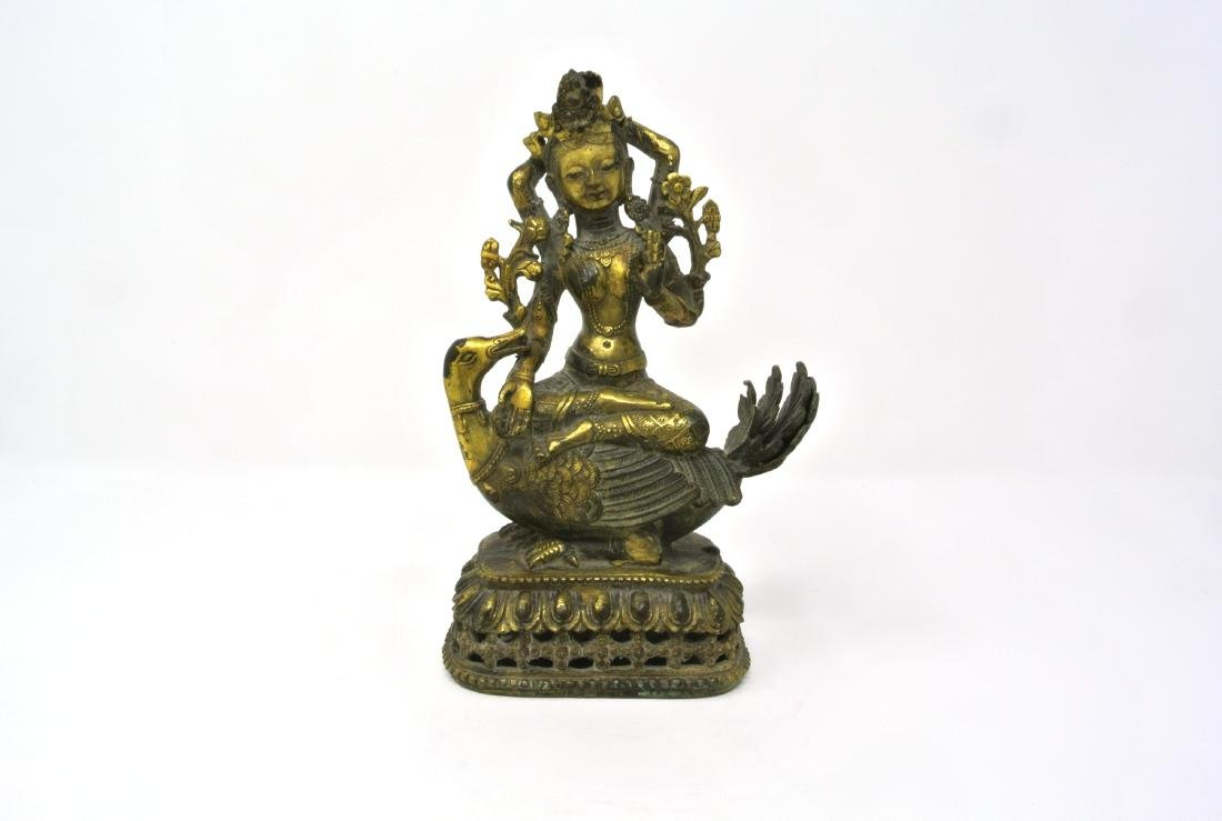 Chinese Gilt Bronze Tara Buddha