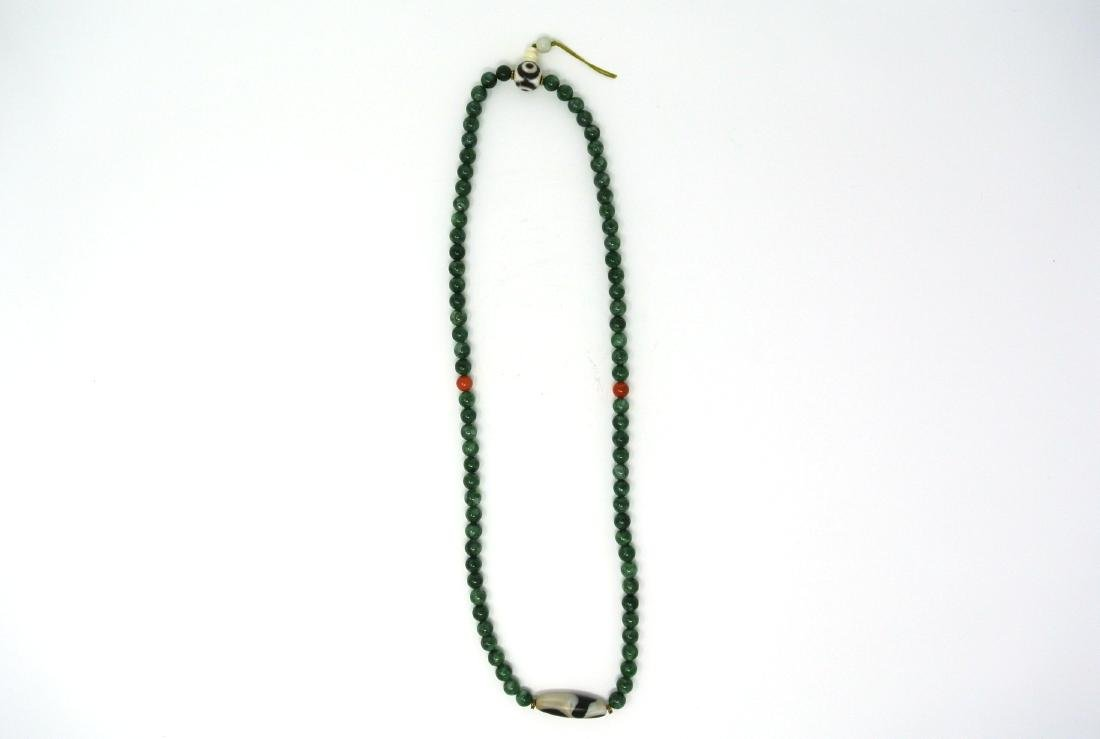 Chinese 32in Jade Necklace