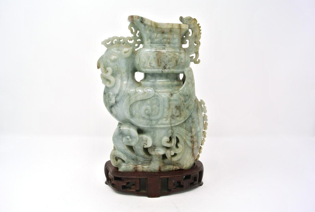 Chinese 21inch Jade Tall Statue