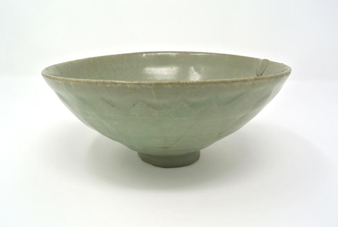 Korean Koryo Dynasty Celadon Leaf Pattern Bowl