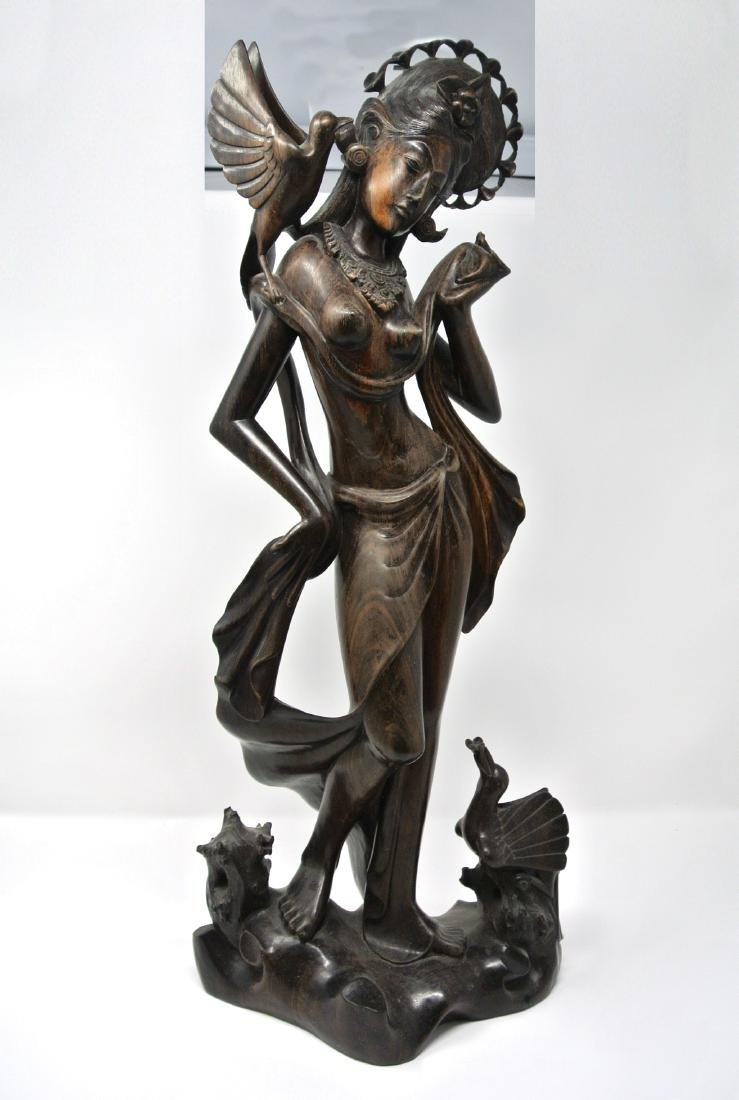 Indonesian Old Ebony Wood Statue