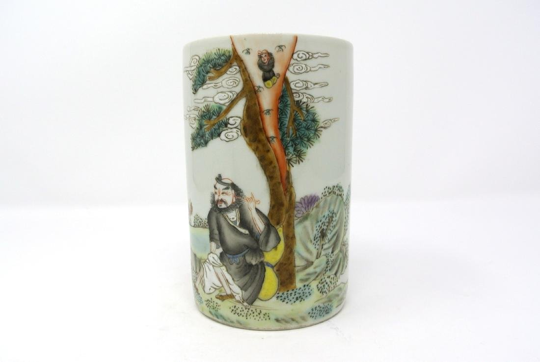 Chinese Old Porcelain Brush Holder