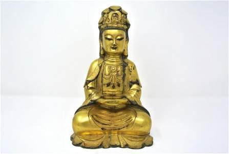 Chinese Antique Gilt Bronze Buddha