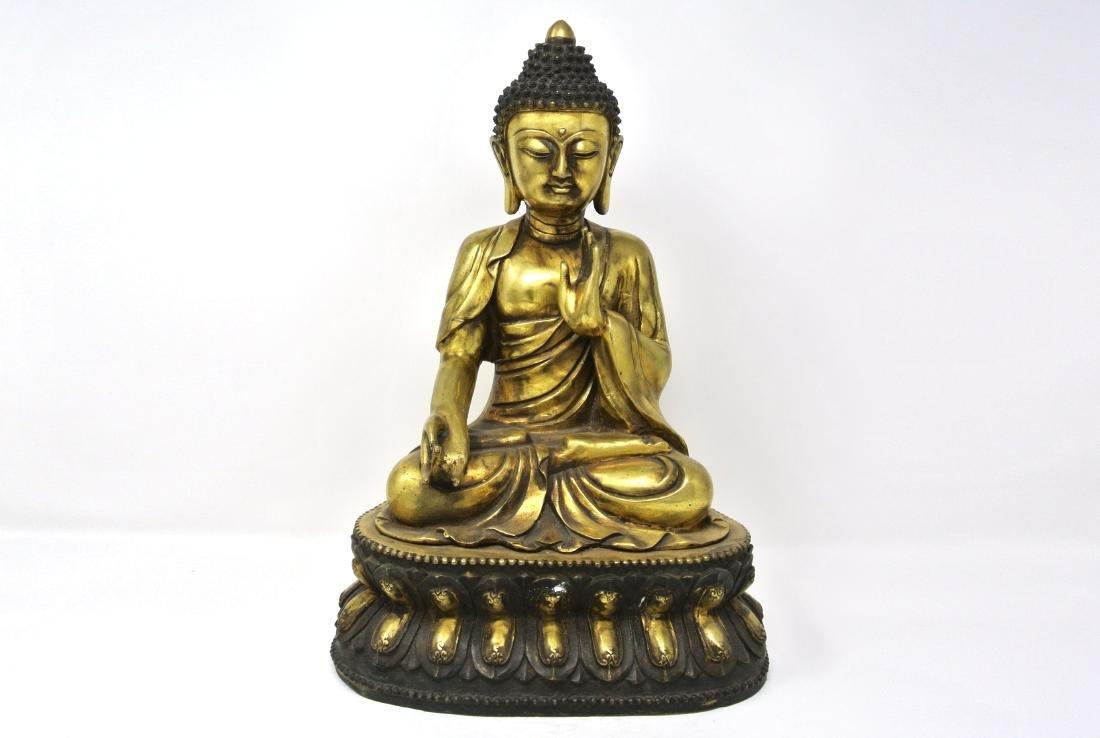 Chinese Old Gilt Bronze Buddha