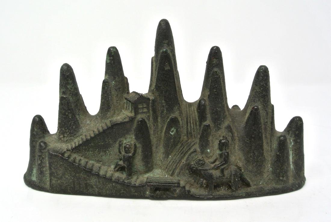 Chinese Old Bronze Brush Rest