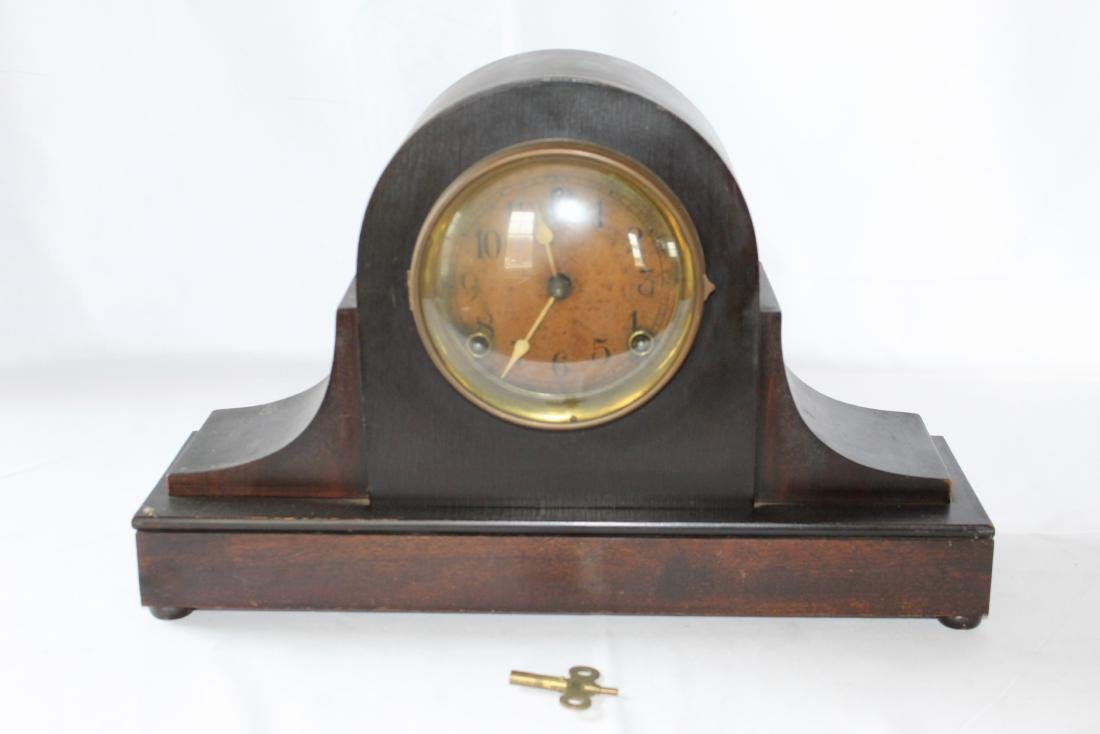 Antique Mantel Shelf Clock With Key by The Sessions