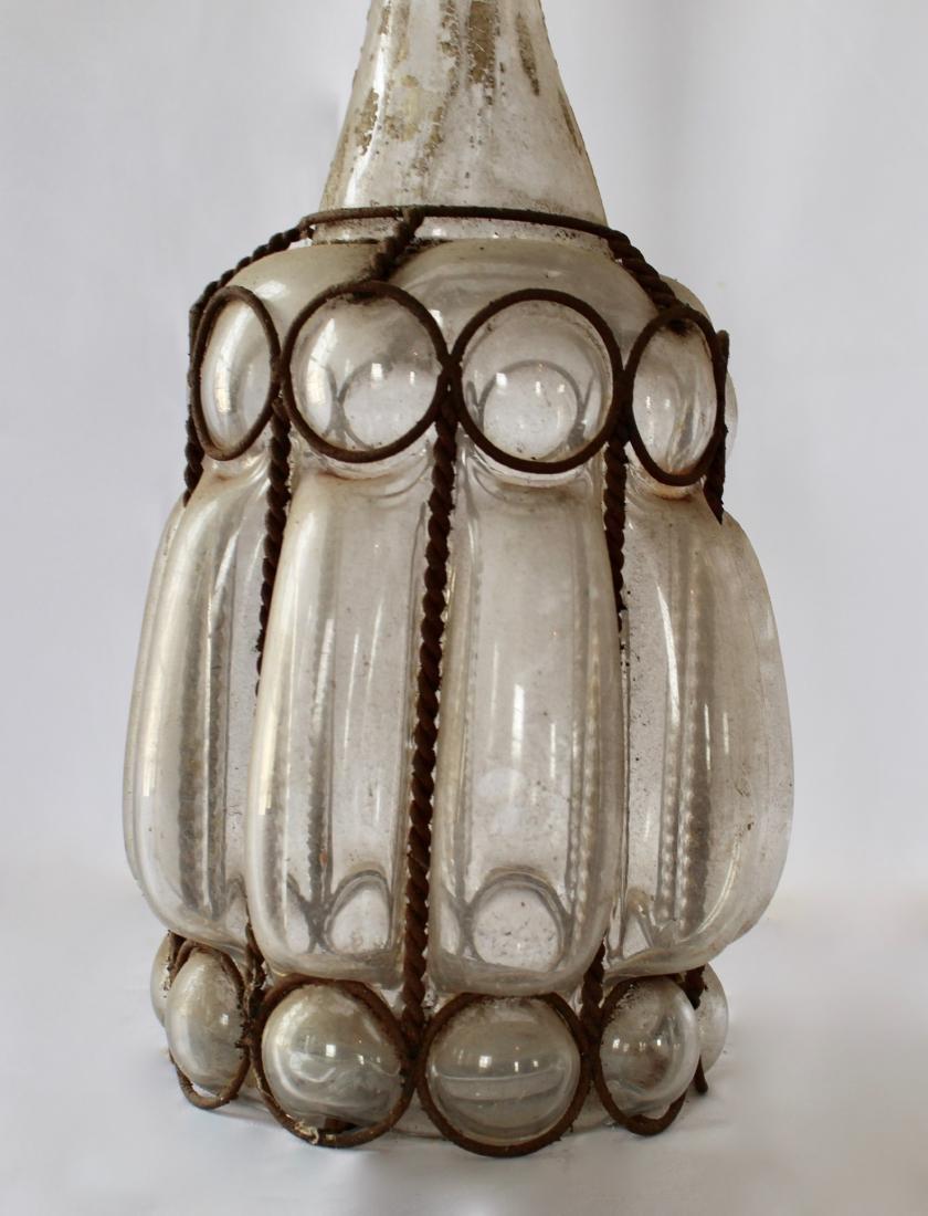 Antique Hand Blown Glass Decanter - 2